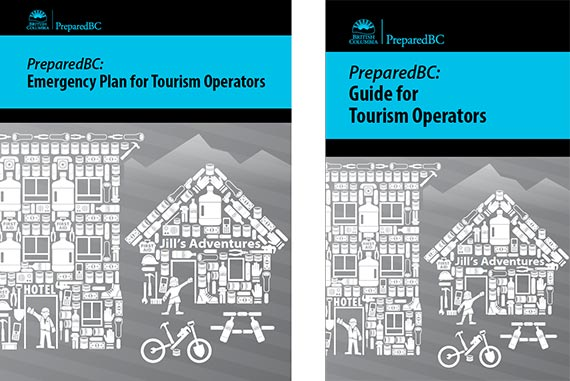 Cover of emergency planning guides.