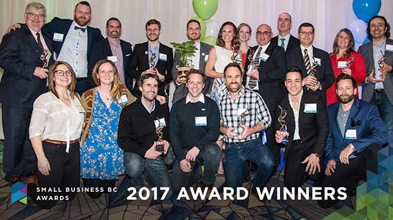 Photo of award winners | Photo credit: Small Business BC