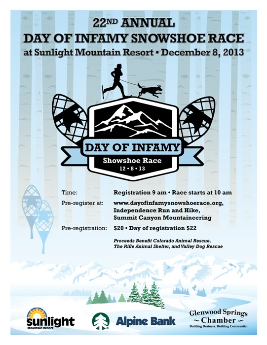 22nd Annual Day of Infamy Snowshoe Race